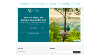 Jebbit Experience Embed Shown on Shopify Storefront
