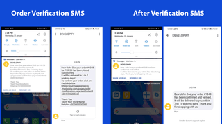 Order Confirmation SMS Process