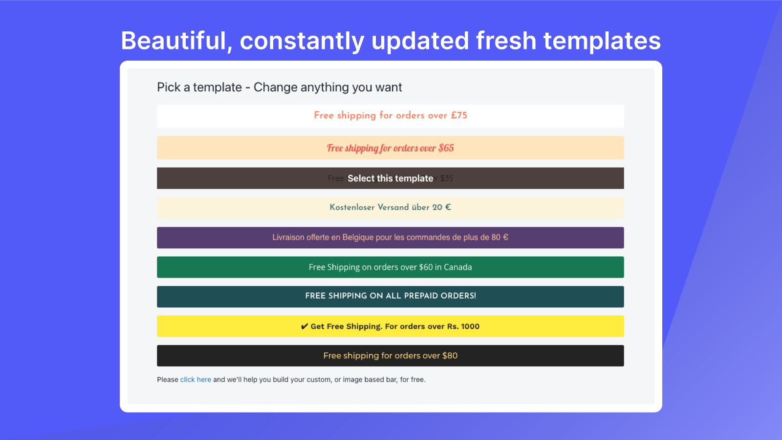 Beautiful, Multi-language, constantly updated fresh templates