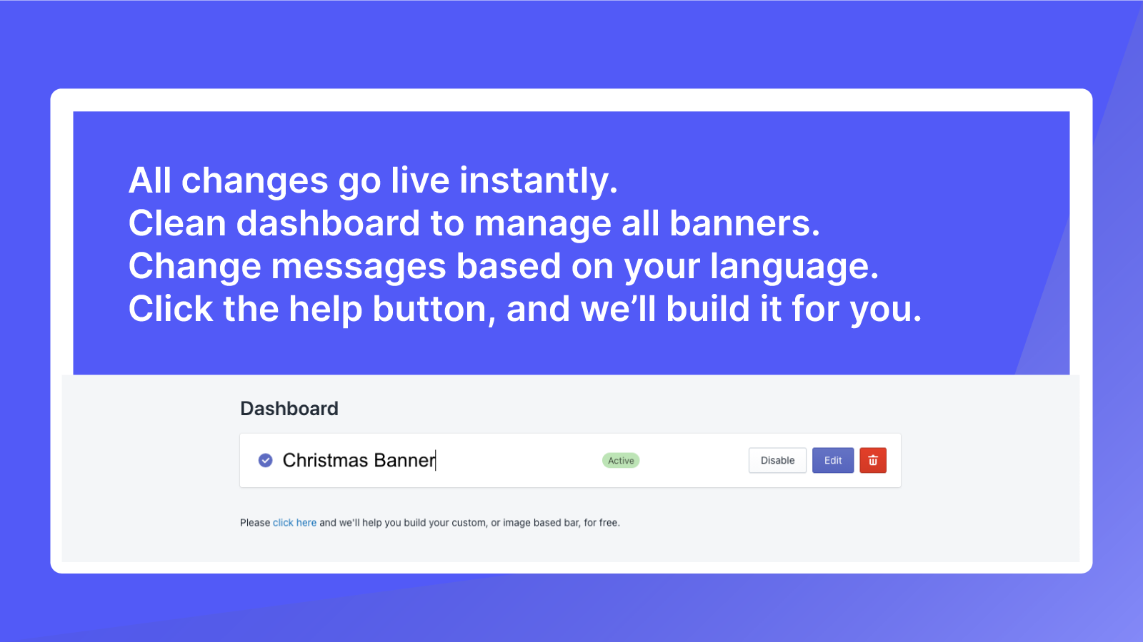 Clean Dashboard, Full tech support, and design support.