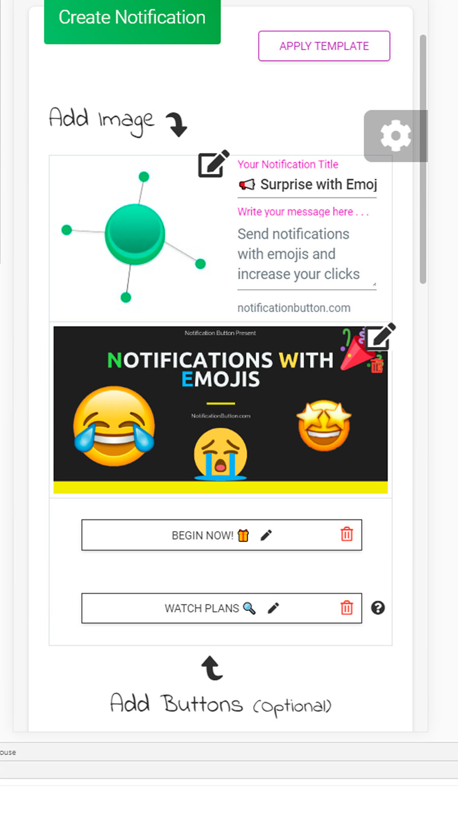 Send Notifications Easily. Graphic and intuitive panel!