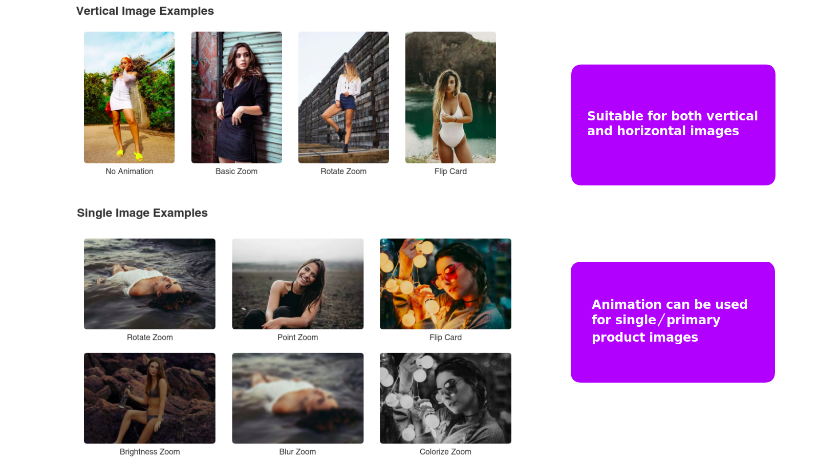 second image hover animation product image horizontal