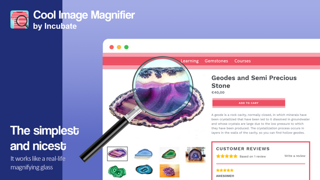 It works like a real-world magnifying glass