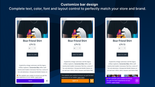 Ultimate GDPR EU Cookie Bar Shopify app by Conversion Bear