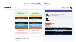Announcement Top Bar - Setting, background color and background