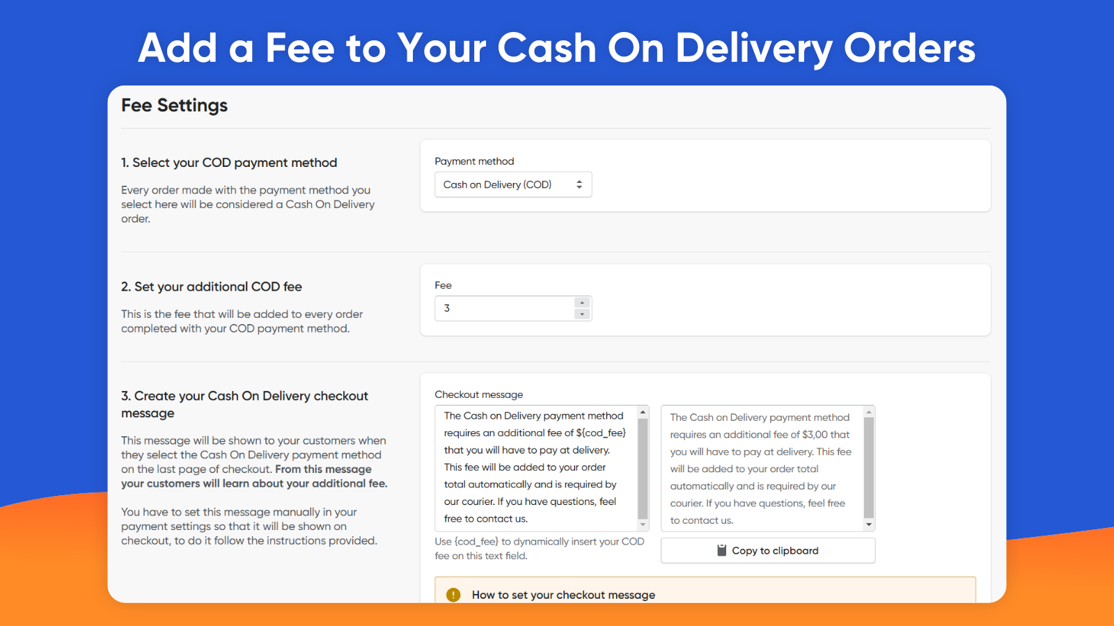 Add a Fee to Your Cash On Delivery Orders