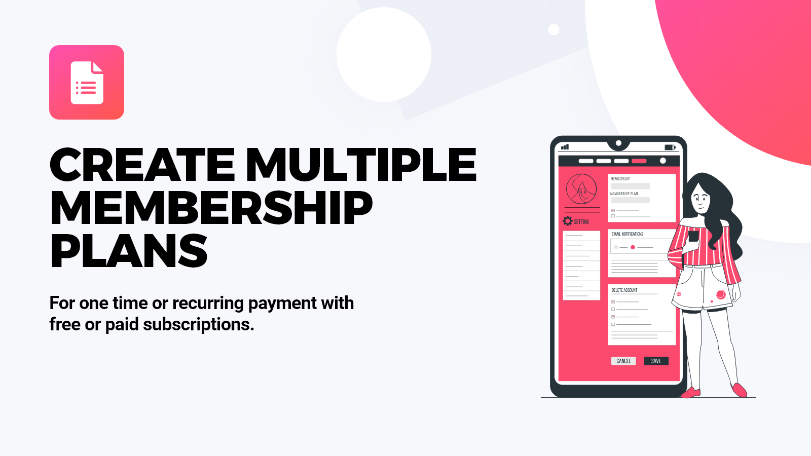 Multiple Membership Levels and Plans