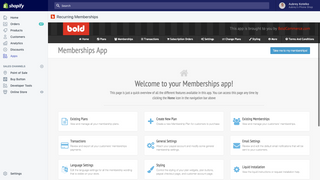 Membership backend admin