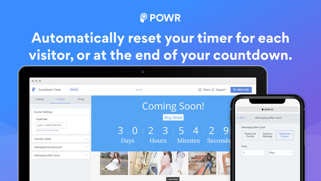 Automatically reset your timer