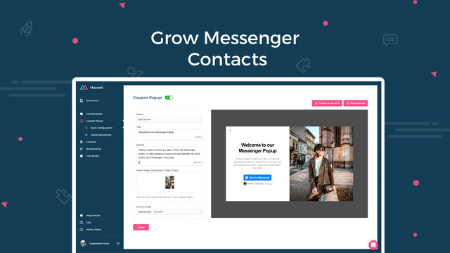 WhatsApp live chat & widgets to grow Messenger contacts