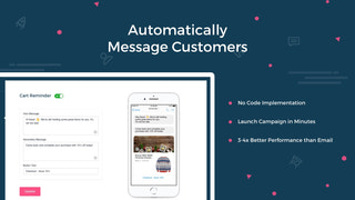 Automatically message customers upon cart abandonment & checkout
