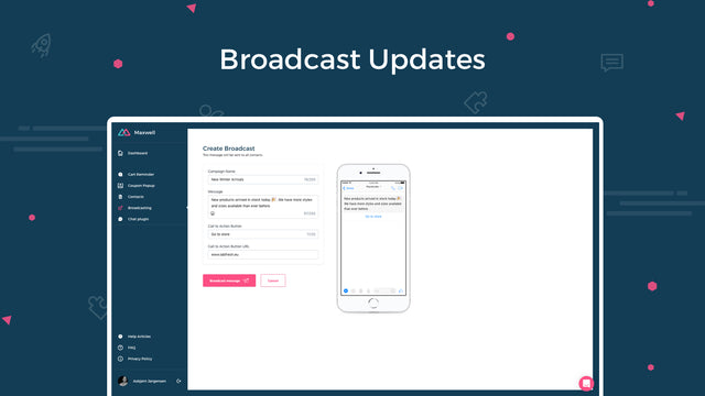 Broadcast special offers with high open and engagement rates