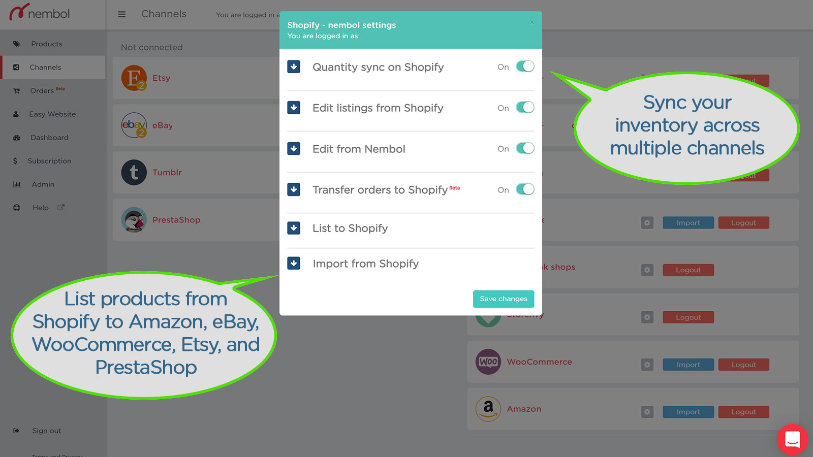 Easily populate your Shopify store, but also eBay, Amazon, Etsy