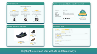 Build your brand by showing reviews & UCG on your website