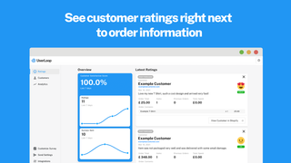See customer feedback right next to their order data.