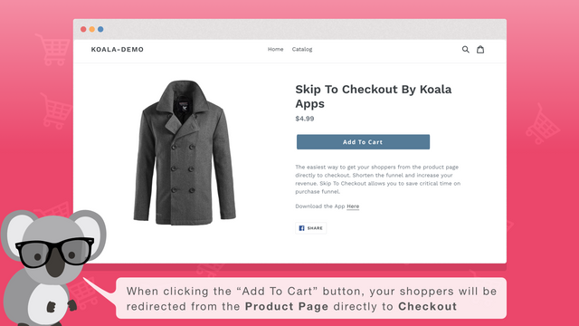 """The """"Add To Cart"""" button Skip you directly to checkout"""