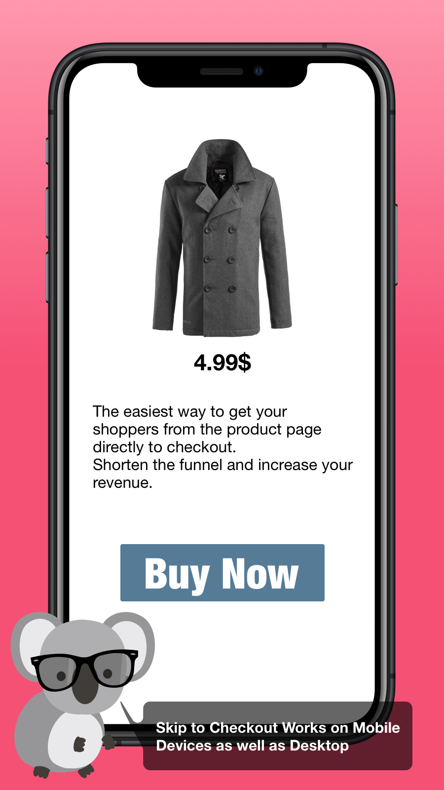 Mobile Skip to Checkout example