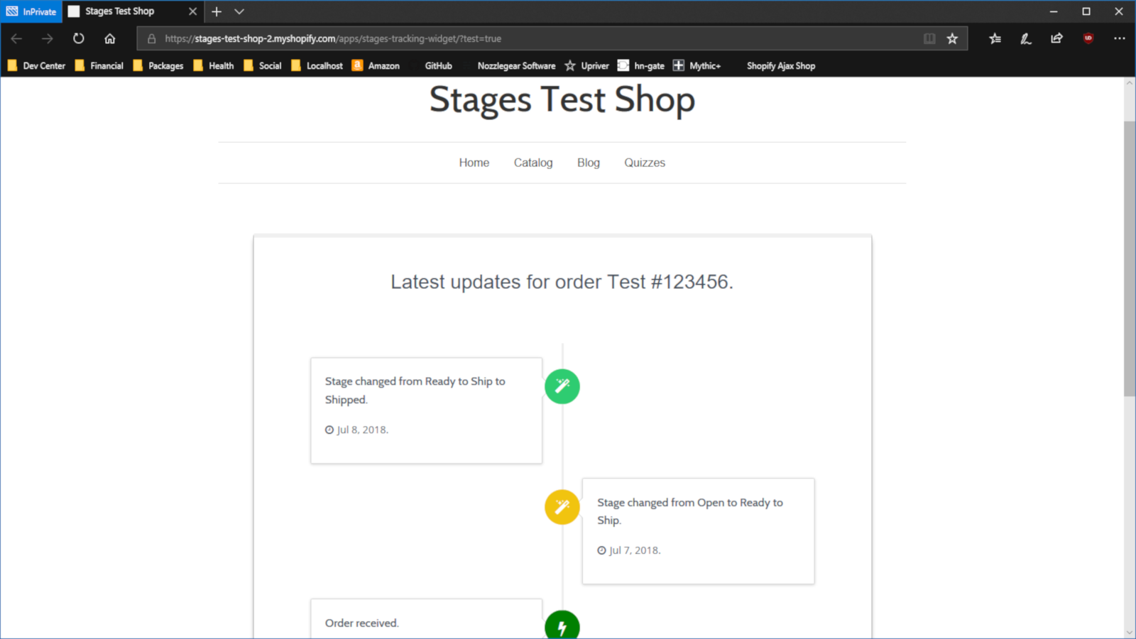Embed your customers' order status on your storefront.