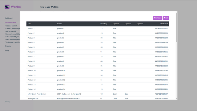 Simulate any product request from within the app