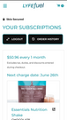 Manage subscriptions mobile