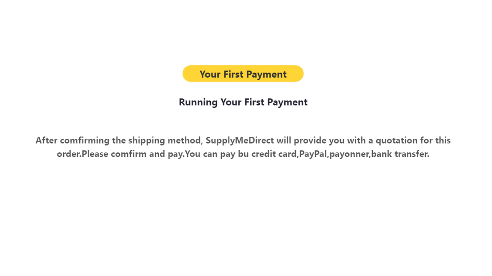 Running Your First Payment