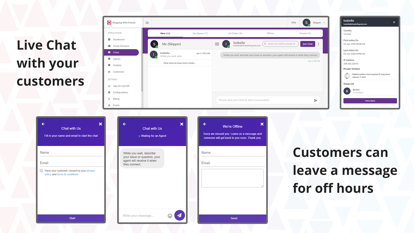 Live Chat with your customer