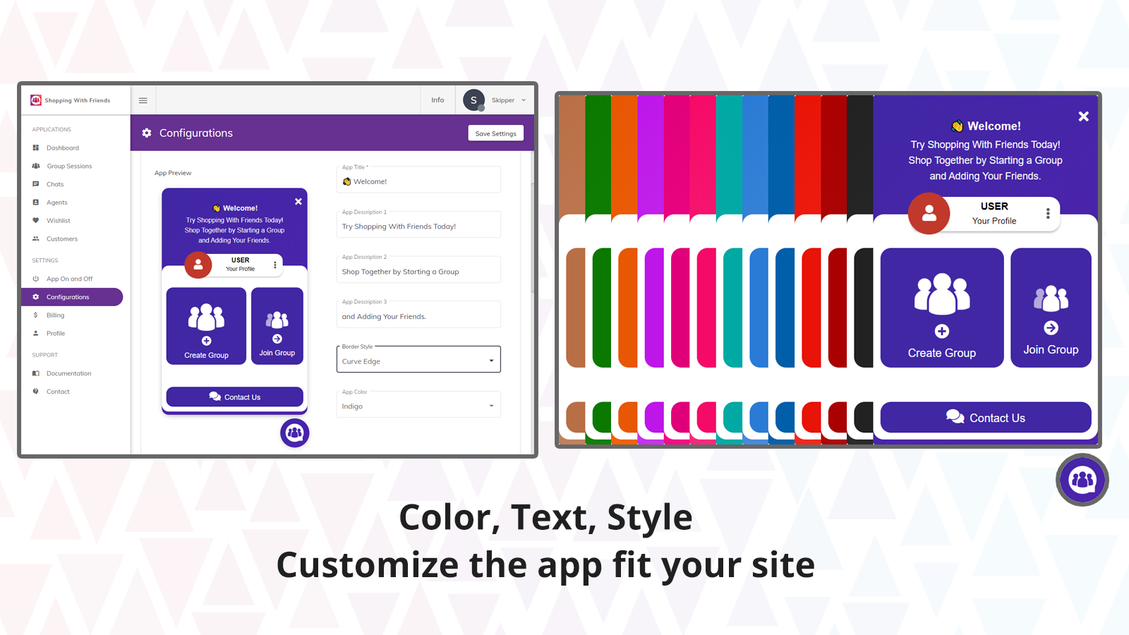 Back End - Customize the app
