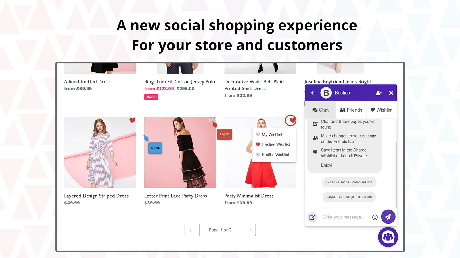 A new social shopping experience