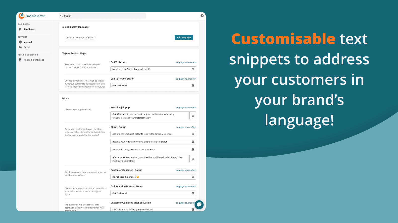 customisable social Proof to generate sales and brand awareness