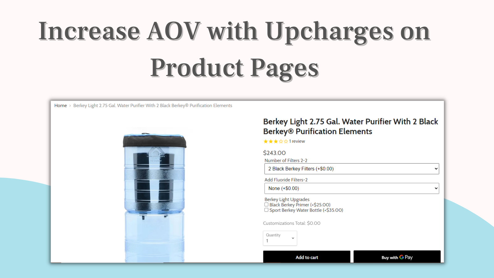 Increase average order value with uncharges on product pages