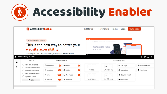 Accessibility Enabler On Website