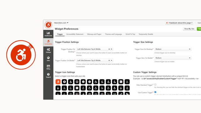 Accessibility Enabler Admin Panel