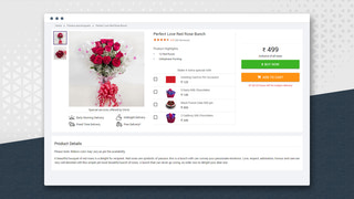 Broadcast Bar on product page