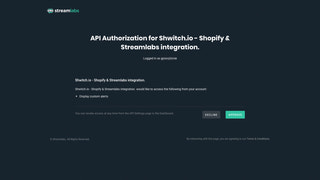 Streamlabs Auth