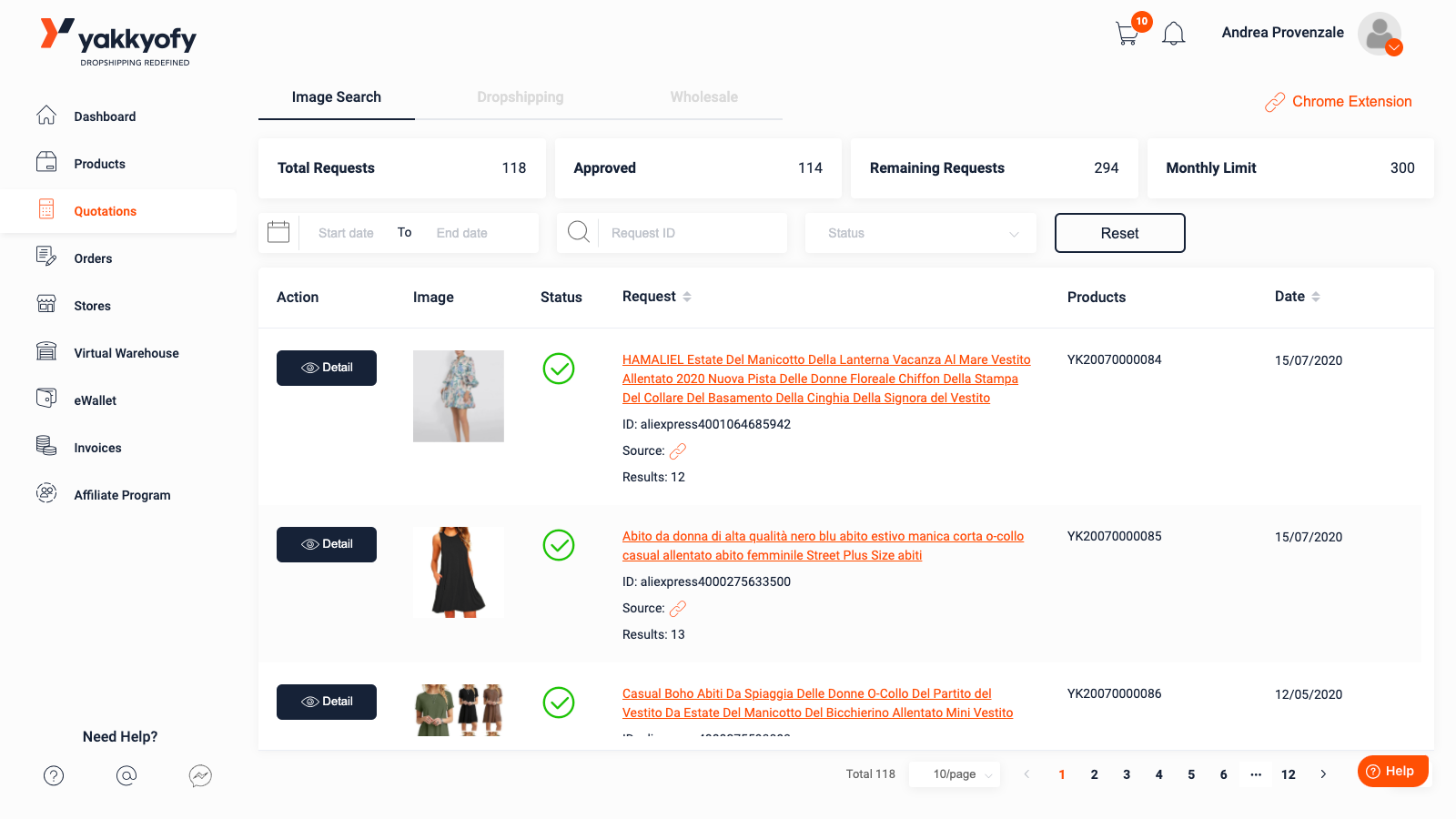 Product search 14/
