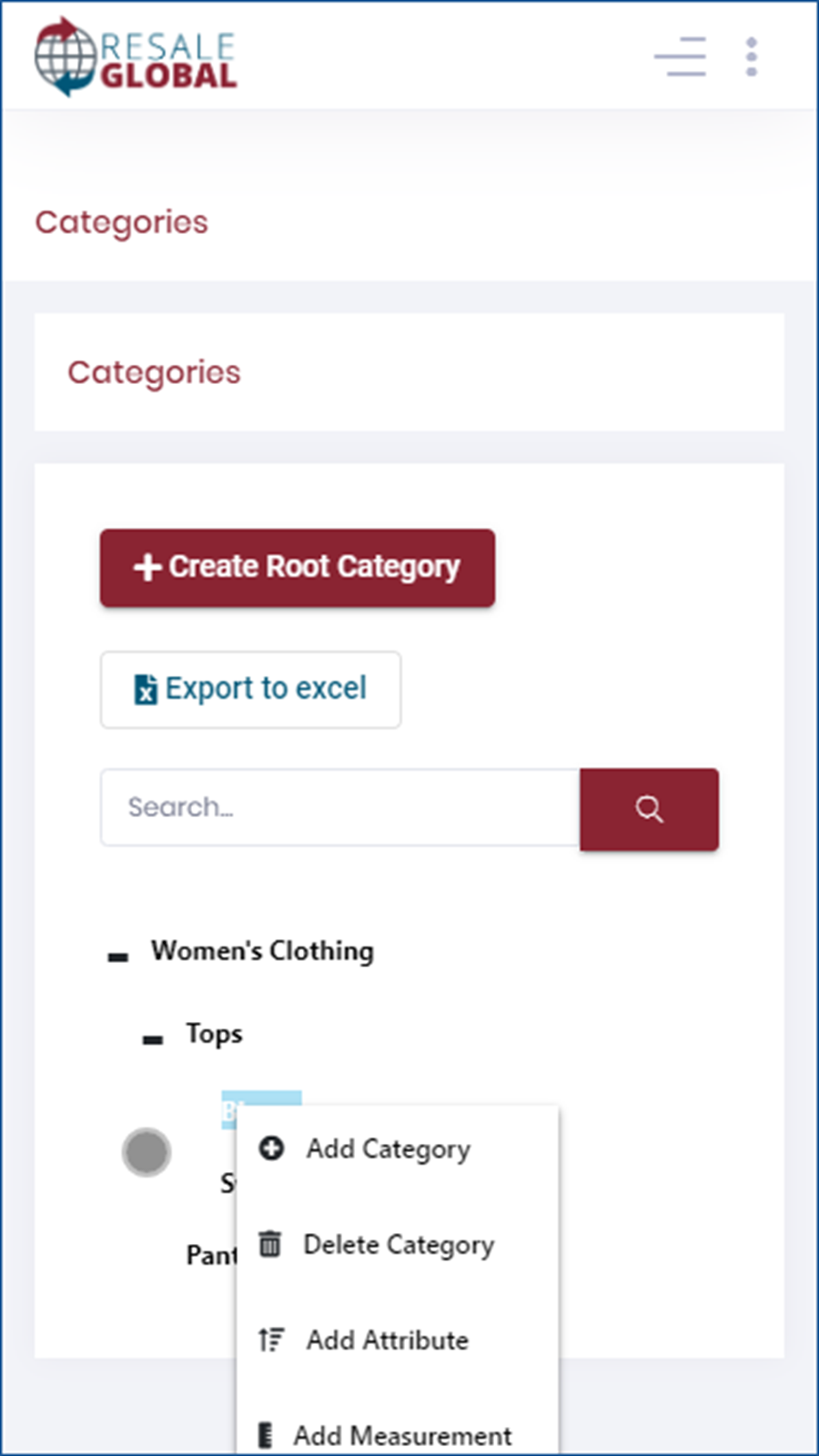 Mobile - Category Creation