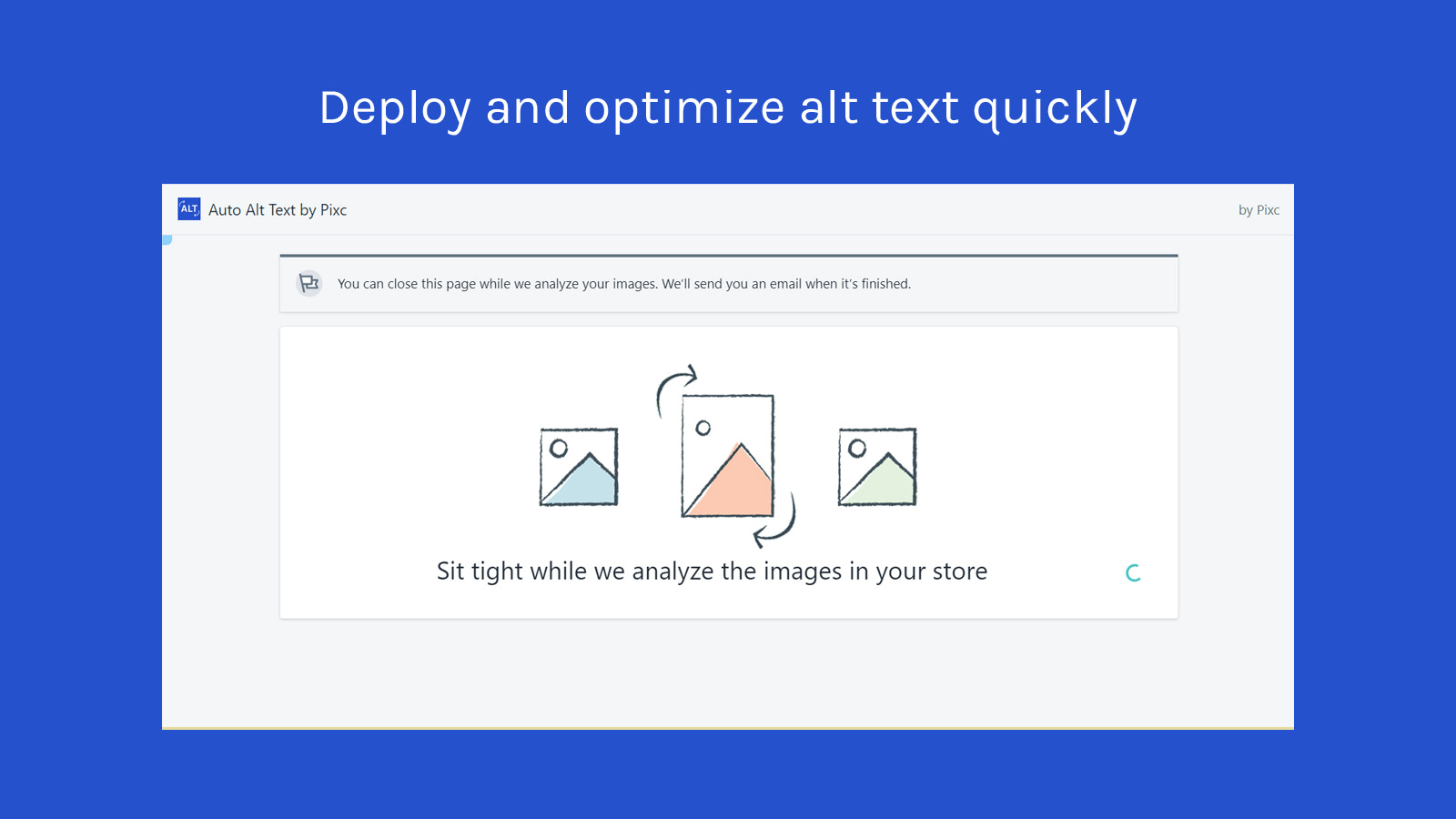 Deploy and optimize alt text quickly