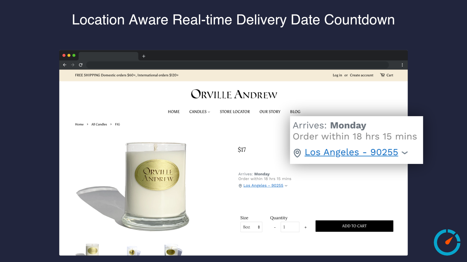 lLocation Aware Real-time Delivery Date Countdown