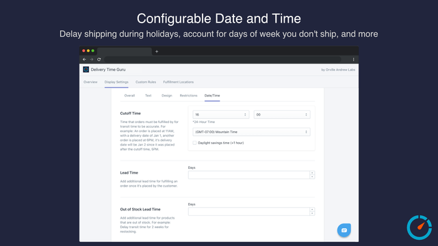 Configurable Date and Time