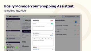 Easily Manage Your Shopping Assistant Chatbot