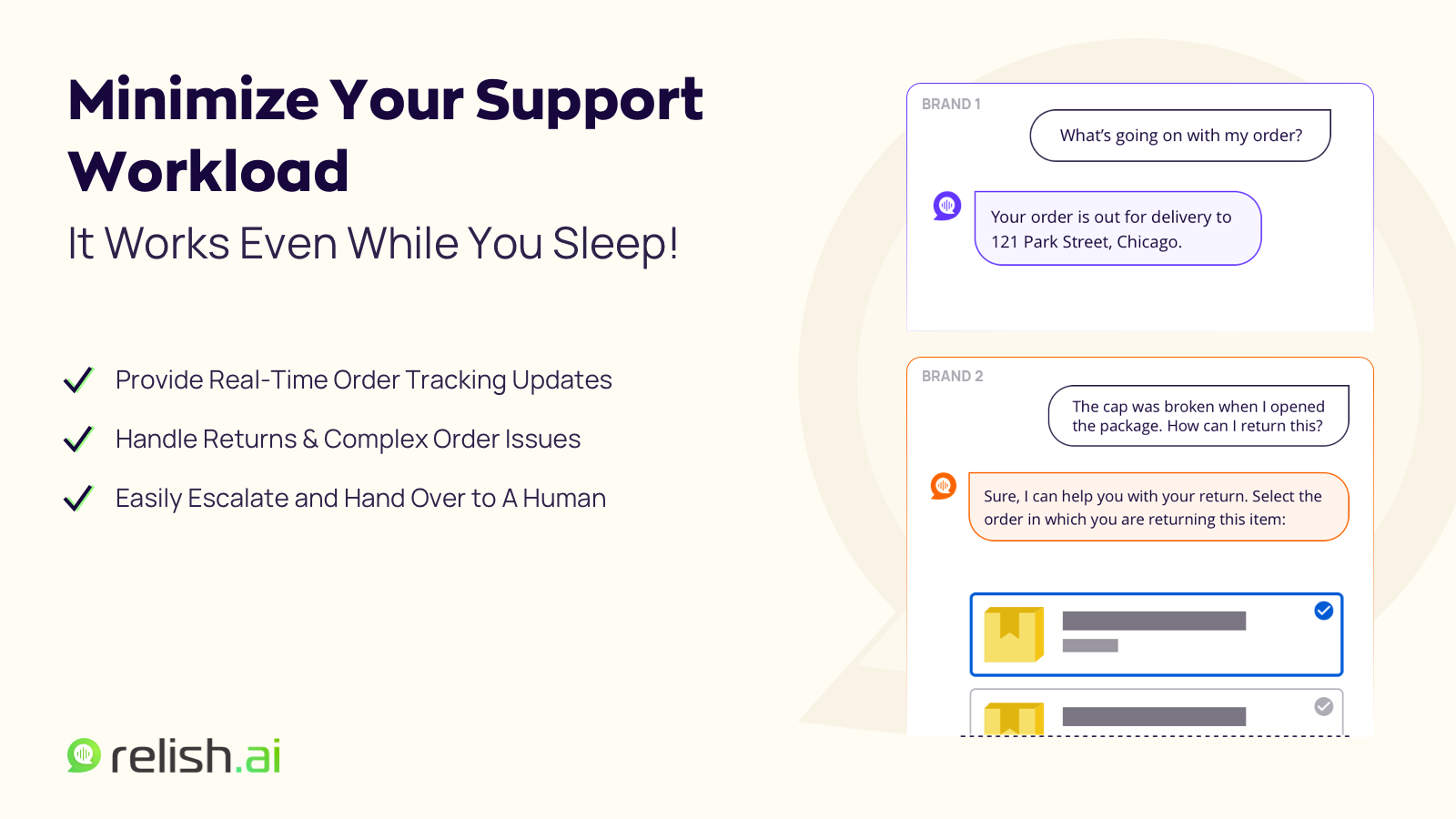 Automate Your Customer Support With Relish AI