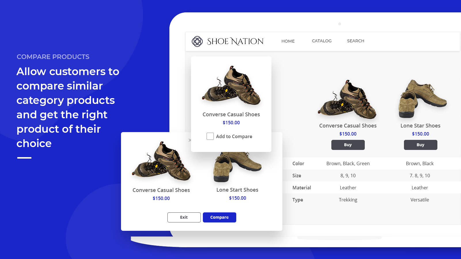 product differentiator front end view