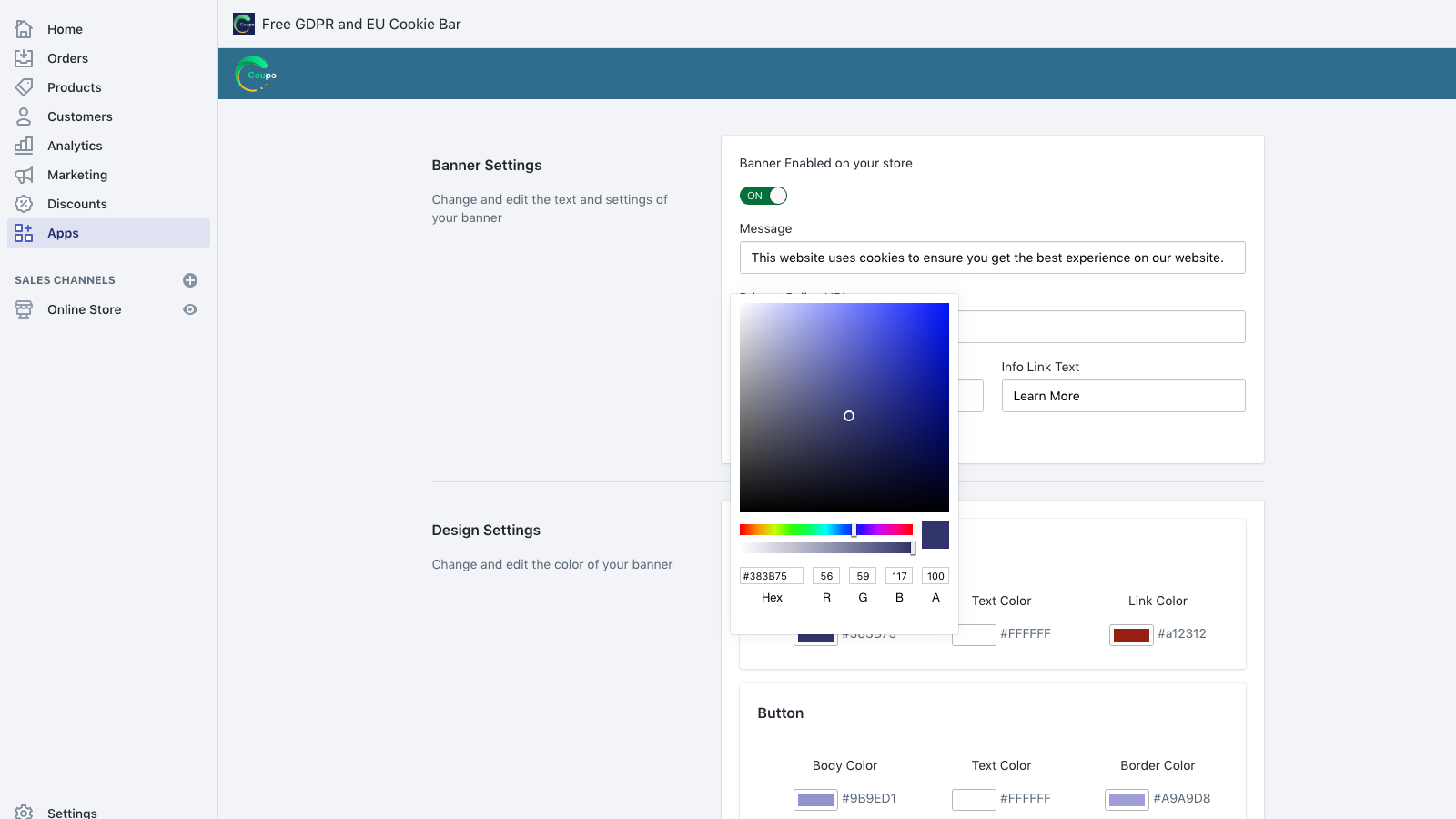 Customize the text and colors to match your themes