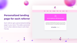 Personalized landing page for each referrer