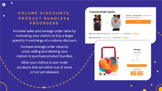 Volume Discounts, Product Bundles, Pre-Ordrs