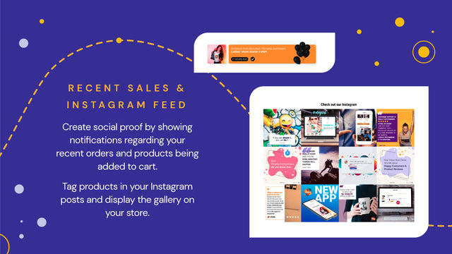 Sales Pop and Instagram Feed