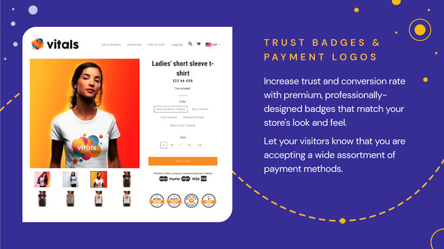 Trust Badges and Payment Logos