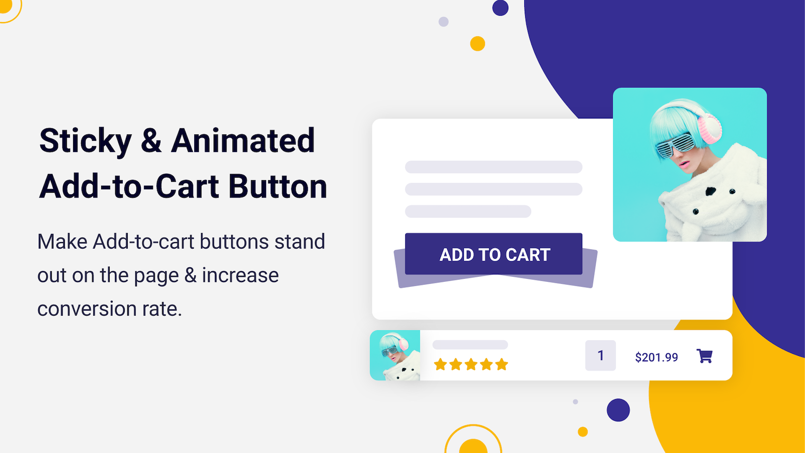 Sticky & Animated Add-to-cart Button