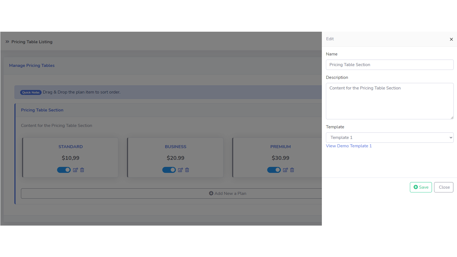 Pricing Table 05