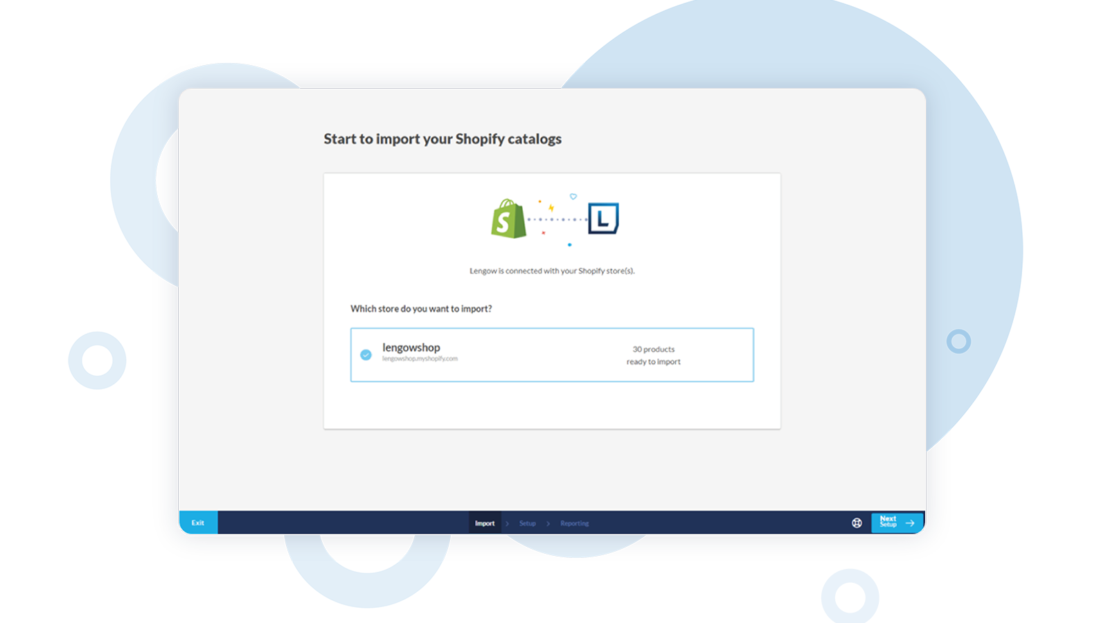 Synchronise with Shopify